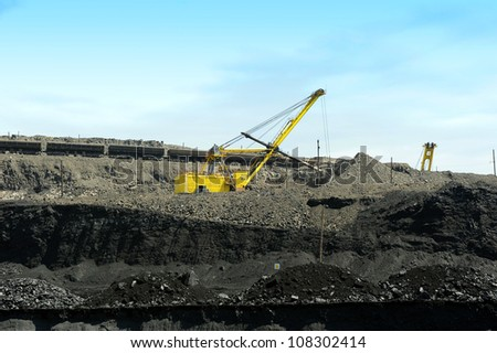 Process of cleaning of an earth cover in a coal pit