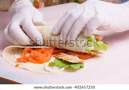 process of making a sandwich roll