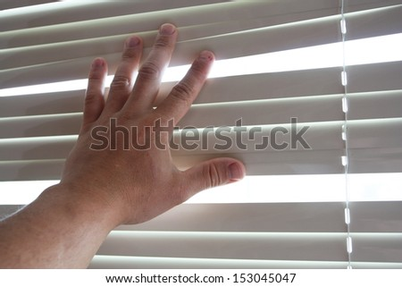 Process of opening of curtains of blinds