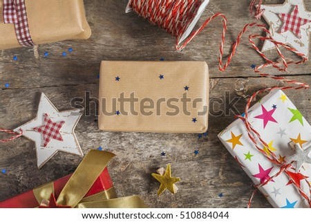 process of packing holiday gifts