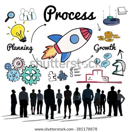 Process Procedure Production System Operation Concept - stock photo