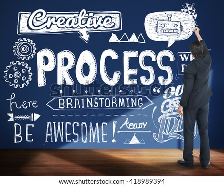 Process Production Method Step Procedure Concept - stock photo