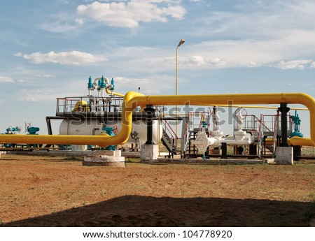 Process unit for gas processing, the overall plan.