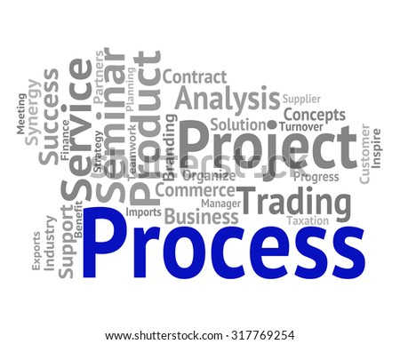 Process Word Showing Processes Task And Method - stock photo
