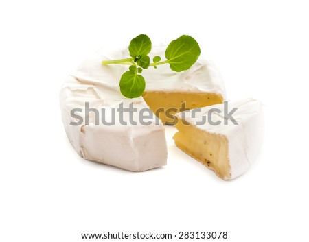processed cheese isolated on white background - stock photo
