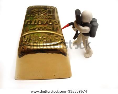 Processing of bank metals        - stock photo