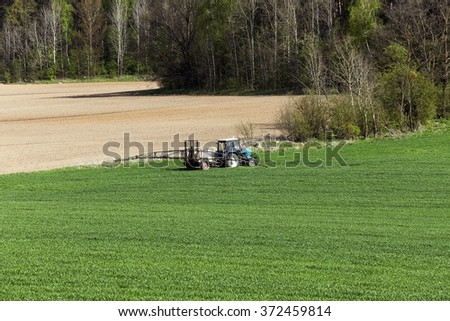 processing of cereals   - stock photo