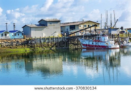 Processor Fishing Boat Westport Grays Harbor Puget Sound Washington State Pacific Northwest - stock photo