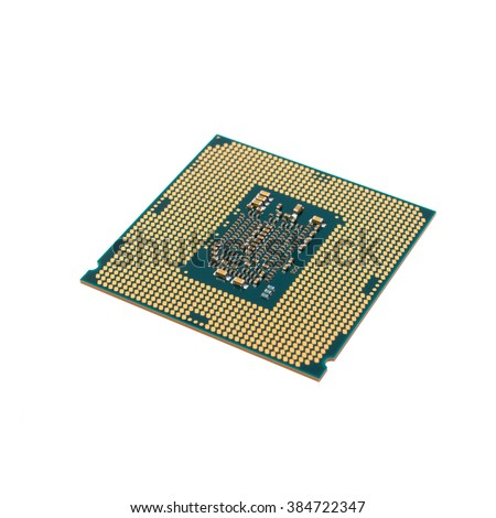 processor from the bottom up - isolated on white background