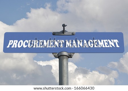 Procurement management road sign - stock photo