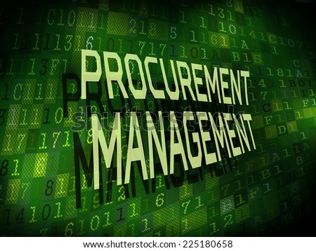 procurement management words isolated on internet digital background  - stock photo