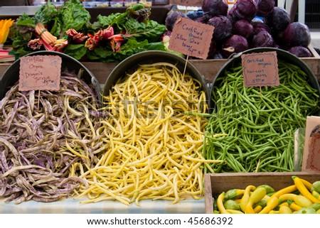 produce at farmers market - stock photo