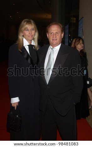 Producer MIKE MEDAVOY & wife IRENA at the 18th Annual American Cinematheque Gala honoring Nicole Kidman. November 14, 2003  Paul Smith / Featureflash