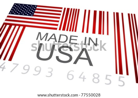 Product bar code symbolizing the massive amounts of goods imported and exported from the United States , Isolated on a white background . 300 D.P.I - stock photo