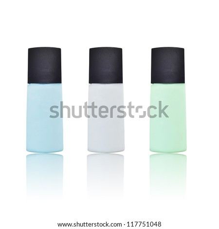 product bottle package isolated on white background can use in cosmetic or pharmacy industry. - stock photo