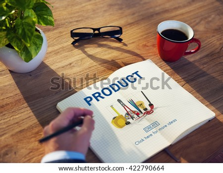 Product Branding Distribution Supply Retail Sales Concept - stock photo