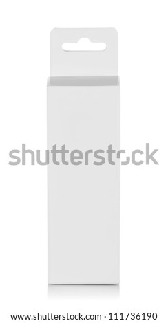 product cardboard box for new design on white background - stock photo