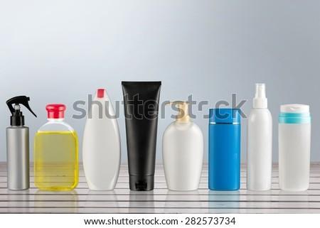 Product, hair, shampoo. - stock photo