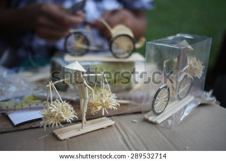 product handmade create by bamboo , made in vietnam - stock photo