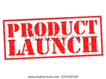 PRODUCT LAUNCH red Rubber Stamp over a white background. - stock photo