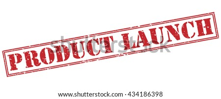 product launch stamp - stock photo