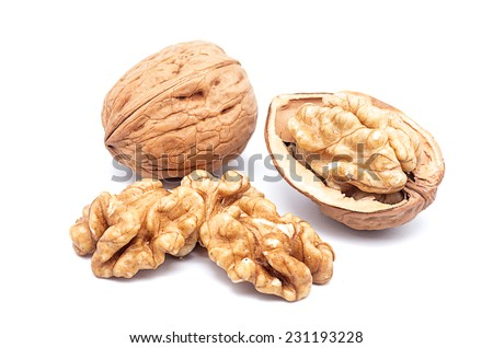 Product Photography California walnuts on a white background - stock photo