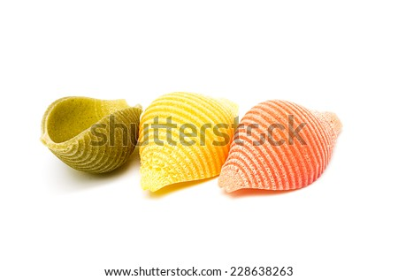 Product photography of Italian Pasta varied colors