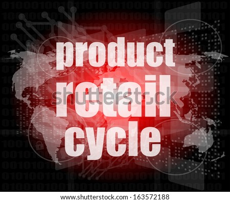 product retail cycle - digital touch screen interface, raster