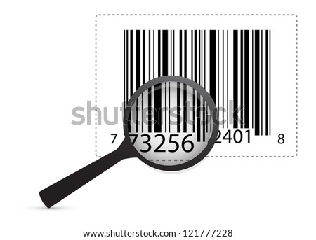 Product Review And Identification illustration design over white - stock photo