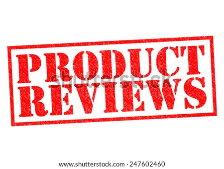 PRODUCT REVIEWS red Rubber Stamp over a white background. - stock photo