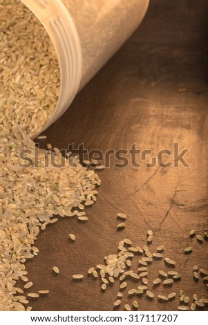 Product shoots: Brown rice,natural, organic healthy food.