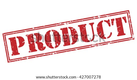 product stamp - stock photo