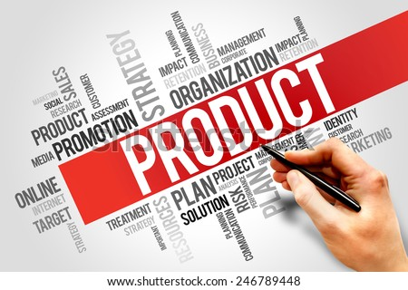 PRODUCT word cloud, business concept - stock photo