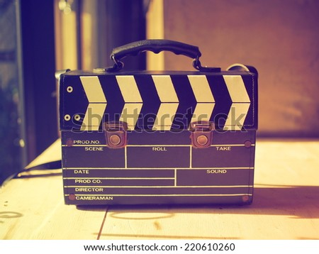 production clap bag vintage color - stock photo
