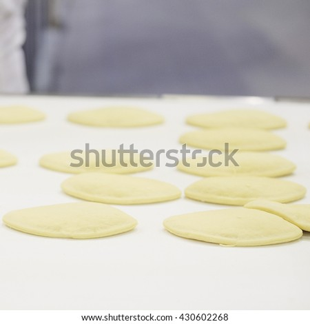 Production line at bakery