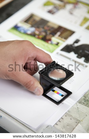 production of a printing - stock photo