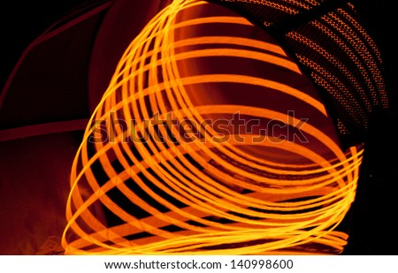 production of a wire in metallurgical production, rolling - stock photo