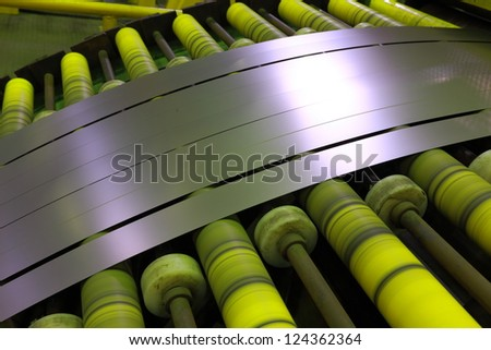 Production of metal titanium - stock photo