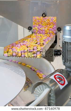 Production of sweets - stock photo