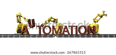 "Production of the word "" AUTOMATION """