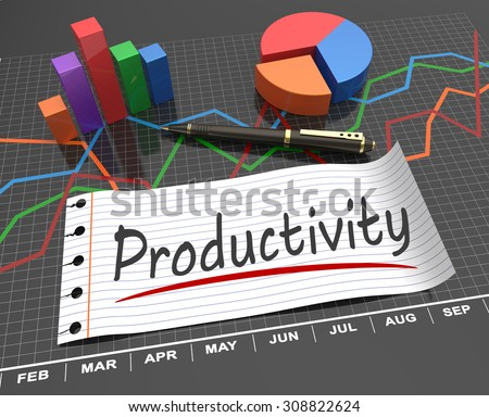 Productivity and development as a concept - stock photo