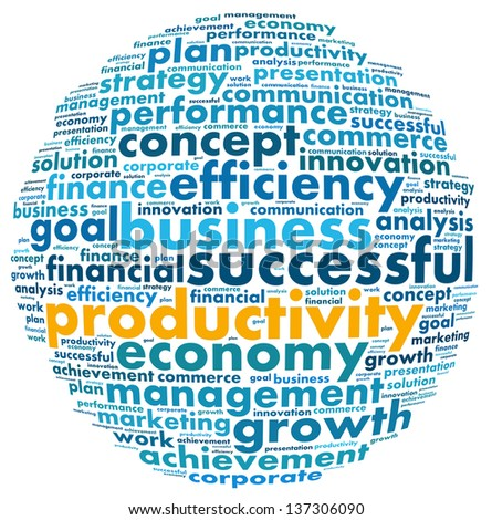 Productivity concept in word collage - stock photo