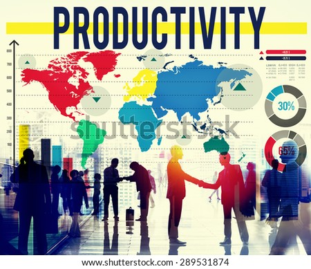 Productivity Efficiency Performance Results Concept - stock photo