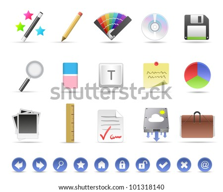 Productivity Icons - stock photo