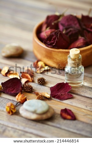 Products for beauty care and dayspa procedures - stock photo