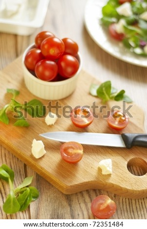 Products for pizza preparation - stock photo