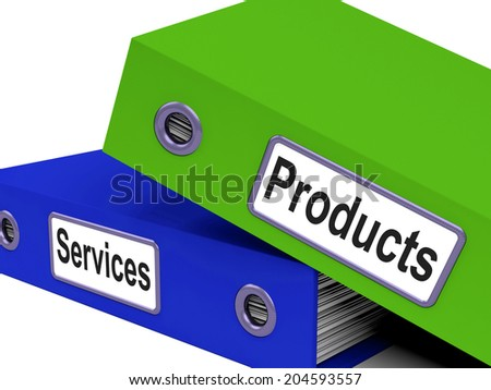 Products Services Showing Organization Buy And Folder