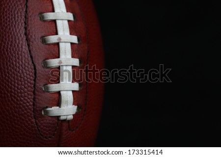 Professional American Football Laces Close Up for Sports Background - stock photo