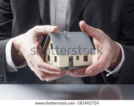 professional assistance in buying a house - stock photo