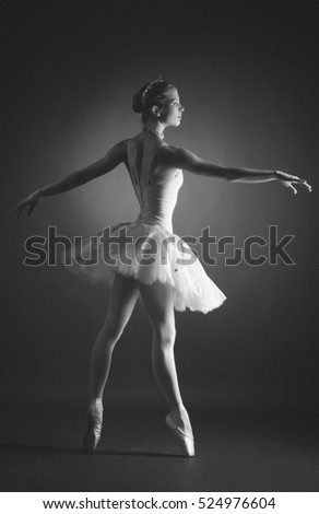 "Professional ballet dancer in costume from the ballet ""the Nutcracker"""